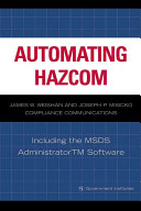 Automating Hazcom: Including the MSDS Administrator Software